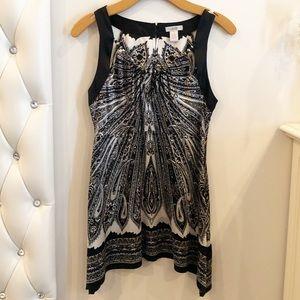Black bead silk tunic